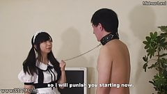 Masochist Slave Punished by Maid