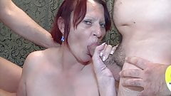 Gilf and stepdaughter enjoy gangbang