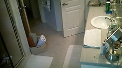 Captured taking a shower