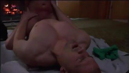Nude men in the bathtub