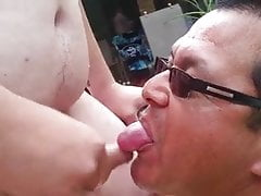Swallowing chub daddy's load