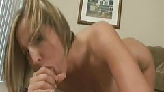 Sexy blonde gives amazing blow job then takes a huge facial