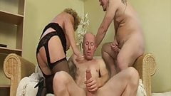 Granny fucked by husband and stepson