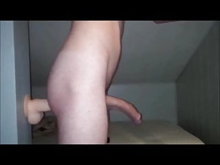 Cumming with a dildo in his ass