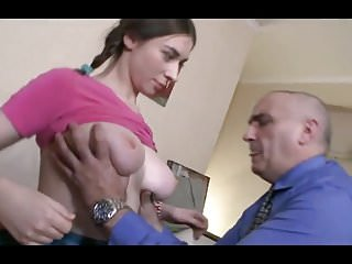 Young Busty Student with old teacher