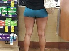 Latina booty in spandex shorts Pt.1