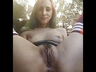 Argentina girl masturbate her amazing pussy in outside