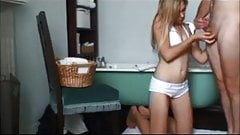 Amateur blonde fucked by old guy