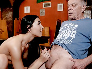 DADDY4K  Sex in the bar with the boyfriend  039 s father