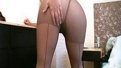 geile blonde nylonsau