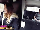 Female Fake Taxi Studs cock makes horny toned driver cum