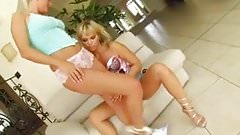Sperm Swap Hot blondes share hot studs cock and cum