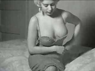 I'M A WOMAN - vintage 50's busty striptease stockings