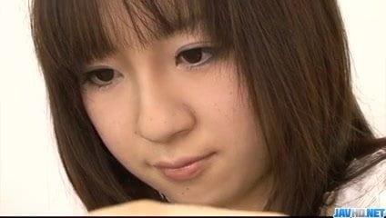 Sexy porn threesome with young Hitomi Fujihara