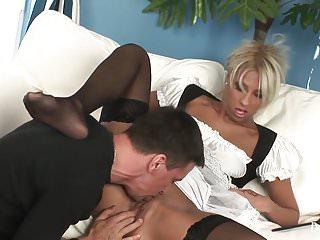 Black Diamond Horny Blonde Maid Taking A Doggystyle Pounding