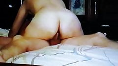 VHS clip of mature wife putting my cock in her ass