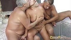 OmaPasS Mature and Granny Lesbian Sex Homemade Vid