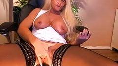 Big tit blonde mature playing on cam
