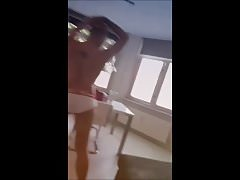 Dancing boy shows his ASS