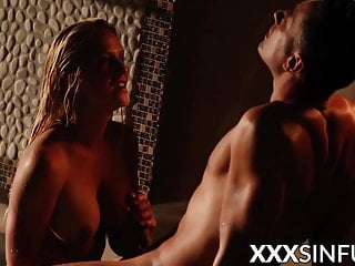 Irresistible blonde spread and banged after fellatio