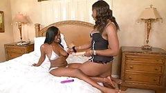 Gorgeous ebony lesbians