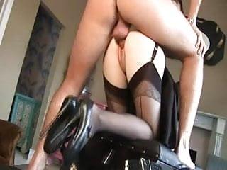 British slut Alicia Rhodes gets fucked in a FFM threesome