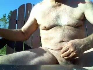 Huge dicked dad wanking 005