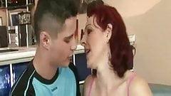 Mature seduces young man