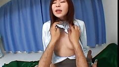 Young Asian schoolgirl brutalized by two dicks in the bedroom
