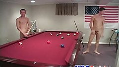 Gorgeous and horny big dick twink threesome sex in the pub