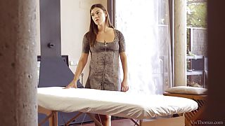 Alyssa Reece gives Taissia a massage
