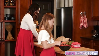 Juicy teen Lilly Ford scissoring with stepmom Missy Martinez