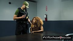Black teen Kendall Woods smashed hard and facialized