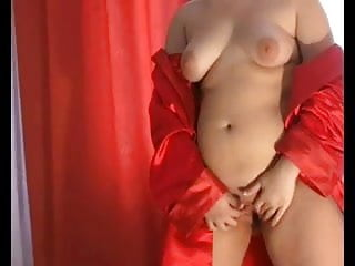 Horny Fat Chubby Teen Showing her Pink Shaven Pussy