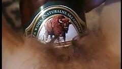 Beer bottle in cunt