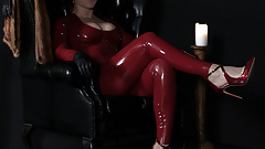 Femdom caning with Baroness Essex