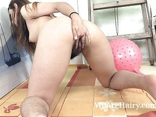 Nikki Heat Has Sexy Fun With Her Ball And Her Day