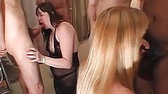 Chubby housewife gets cum on her face and mouth