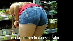galega de shortinho mostra rabo (blonde big ass) 152
