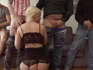 Caroline takes 3 cocks in all holes
