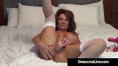Busty Milf Deauxma Uses 4 inch
