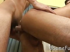 skinny youngster gets messy facial after group sex