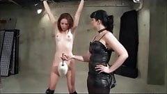 Brunette Dominates Petite Redhead Lesbian