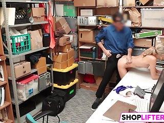 Nubile Gal Emma Gets Drilled For Shoplifting