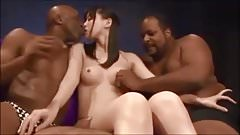 Japanese wife enjoyed 3P fuck with colleagues & black guys!