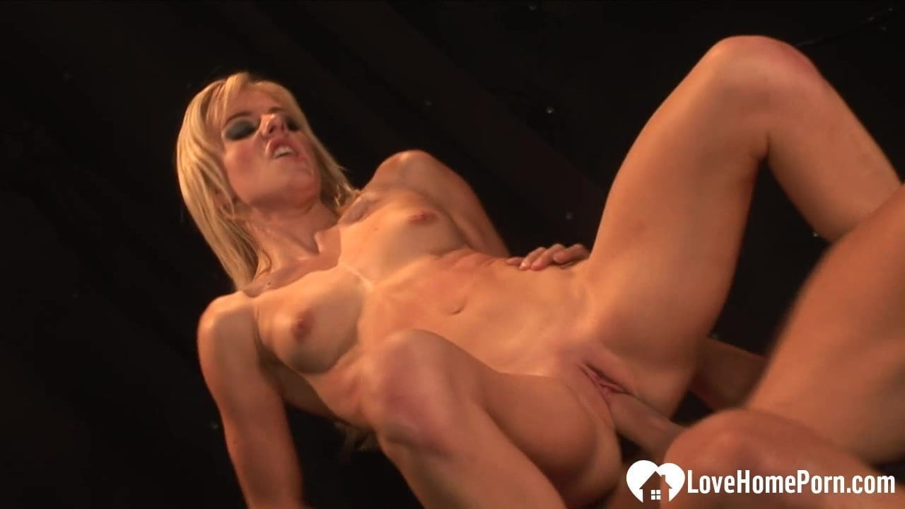 Hot blonde takes a rock-solid cock deep inside