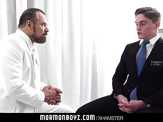 Handsome missionary jock gets touched by daddy priest