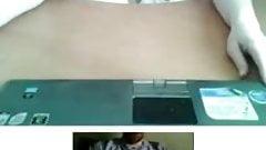 Flashing on webcam. 19yo babe. With cum