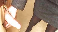 Latina tranny banged in stockings