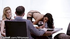 EroticaX Mistress Cherie Teases Teen Slave with Cock